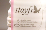 Stayfree Pads Package Design